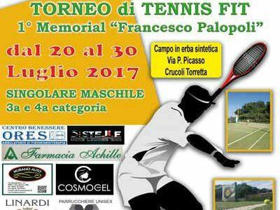 """Crucoli Torretta – Il Centro Sportivo Ferrari organizza il I memorial di tennis """"Francesco Palopoli"""""""
